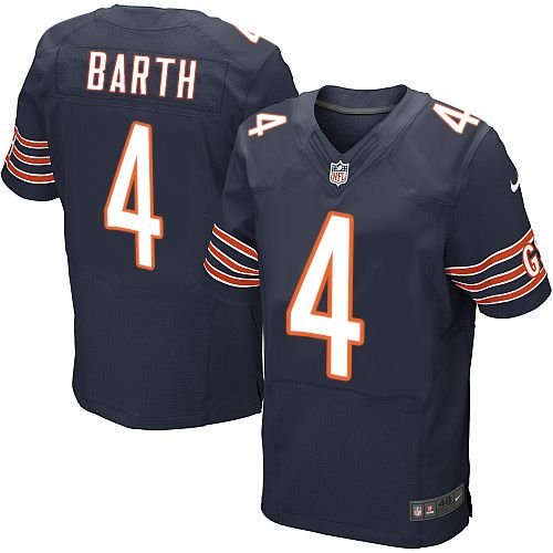 c5aab079255 Men's Nike Chicago Bears #4 Connor Barth Elite Navy Blue Team Color NFL  Jersey