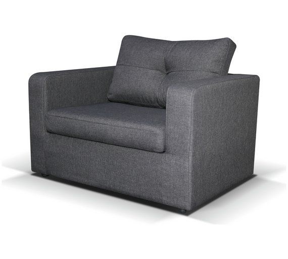 Buy Home Max Single Fabric Chairbed Charcoal Sofa Beds