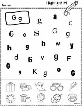 Make learning letters fun and engaging with this set of worksheets. Students use highlighters to identify letters of the alphabet, beginning...