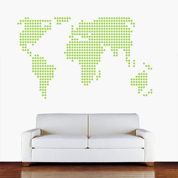 Amazing dot world map wall sticker from vunk awesome quirky amazing dot world map wall sticker from vunk gumiabroncs Images