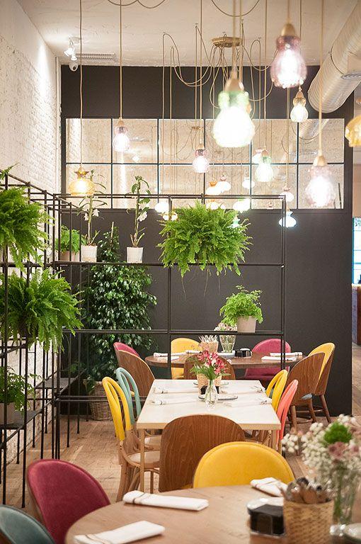 Nuevo Restaurante En Madrid El Columpio Restobar Diseno De Interiores Del Restaurante Decoracion Restaurantes Diseno De Tienda De Cafe