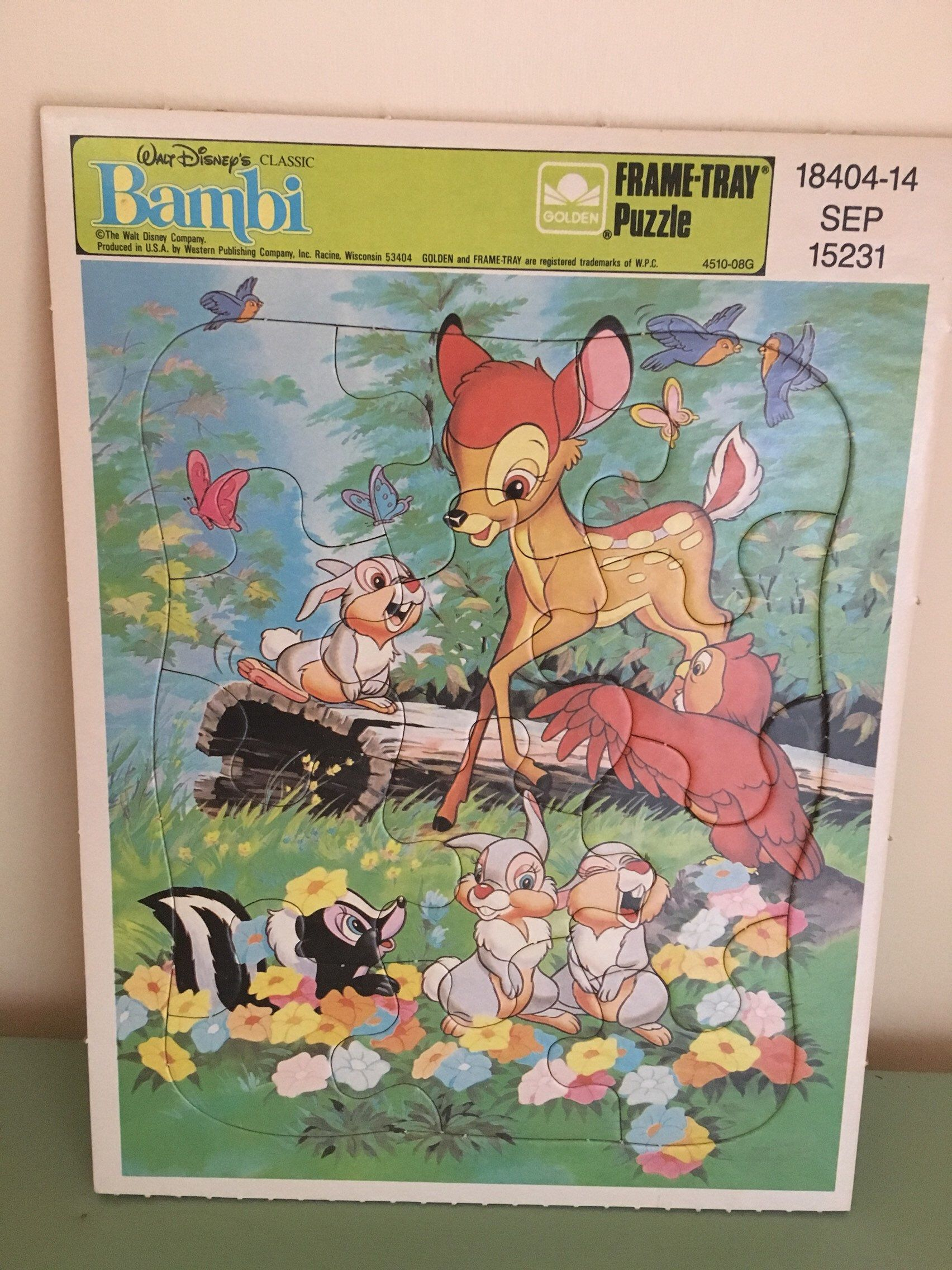 Excited To Share This Item From My Etsy Shop 80 S Walt Disney S Classic Bambi Frame Tray Puzzle Disney Puzzles Vintage Disney My Childhood Memories