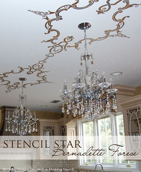 Two Modello™ Design Ornamental Center vinyl stencil patterns (OrnCen187) were…