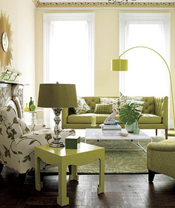 modern furniture: modern green living room design ideas 2011