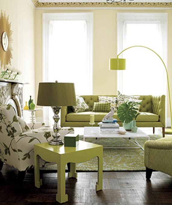 Apple Living Room Specialist: Modern Furniture: Modern Green Living Room Design Ideas