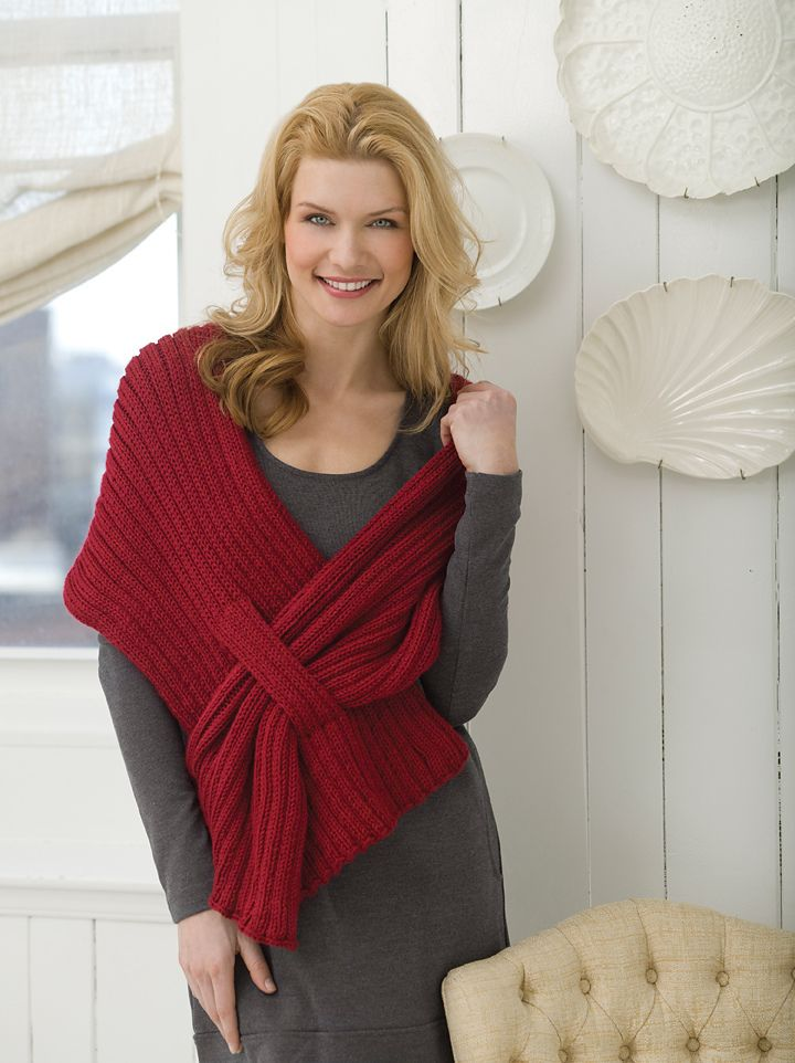 d66b4349d17 Ribbed Slit Shawl pattern by Kimberly K. McAlindin