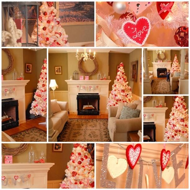 valentines home decor might just leave the tree up sometime for one more holiday