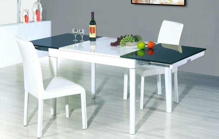 küchenstühle weiß funktionaler esstisch küche gestalten | Küche ...