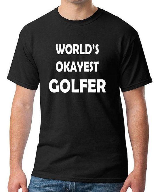 World's Okayest GOLFER Unisex 100% Cotton T-Shirt by NirvanaGear gag gift funny