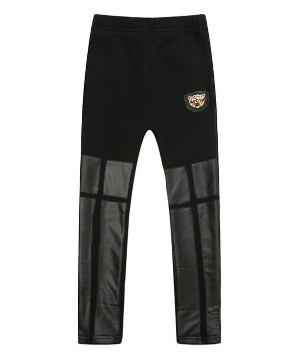 Look at this Richie House Black Faux Leather Leggings - Toddler & Girls on #zulily today!