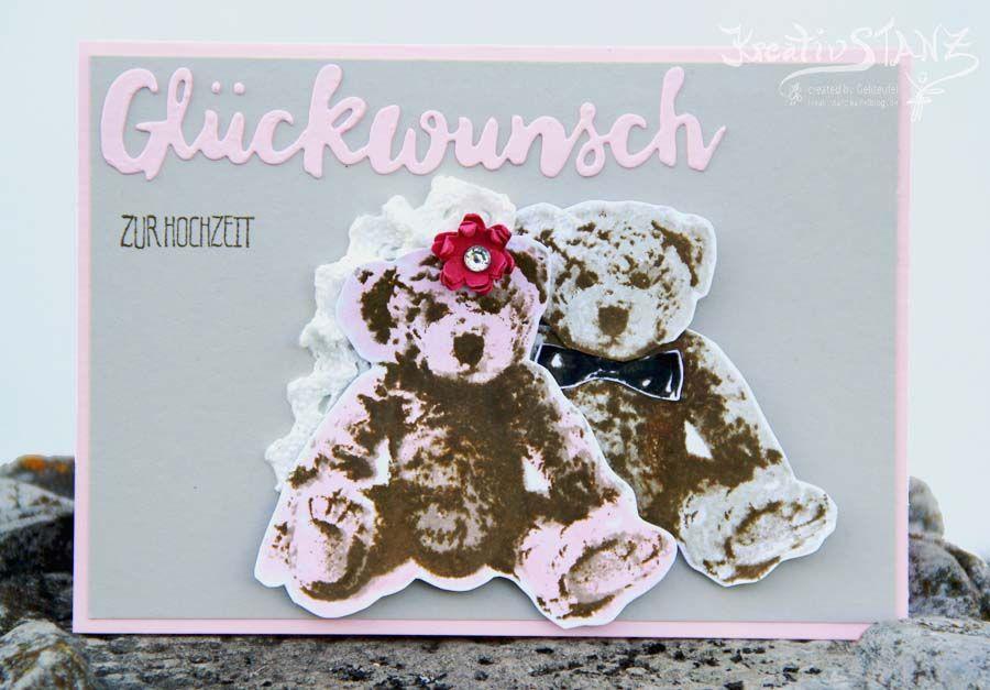 Unentbärliche Grüße Stampin' Up! KreativStanz Hochzeit Teddybär Bär #wedding #bear http://kreativstanz.bastelblogs.de/