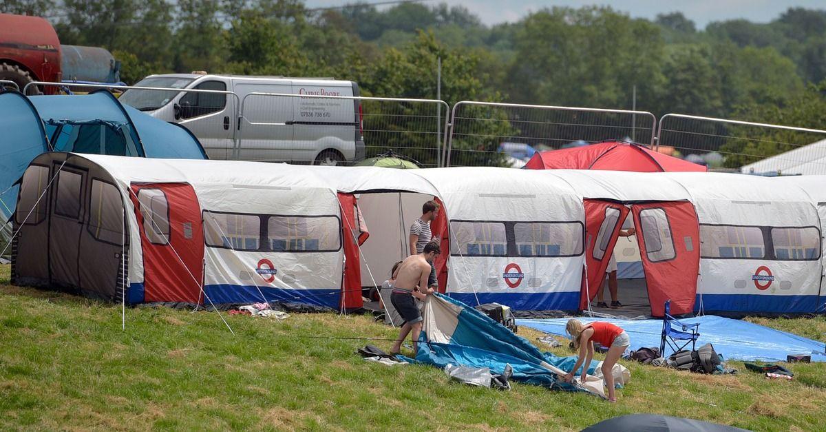Impressive tent modelled after Tube train has returned to Glastonbury Festival & Impressive tent modelled after Tube train has returned to ...