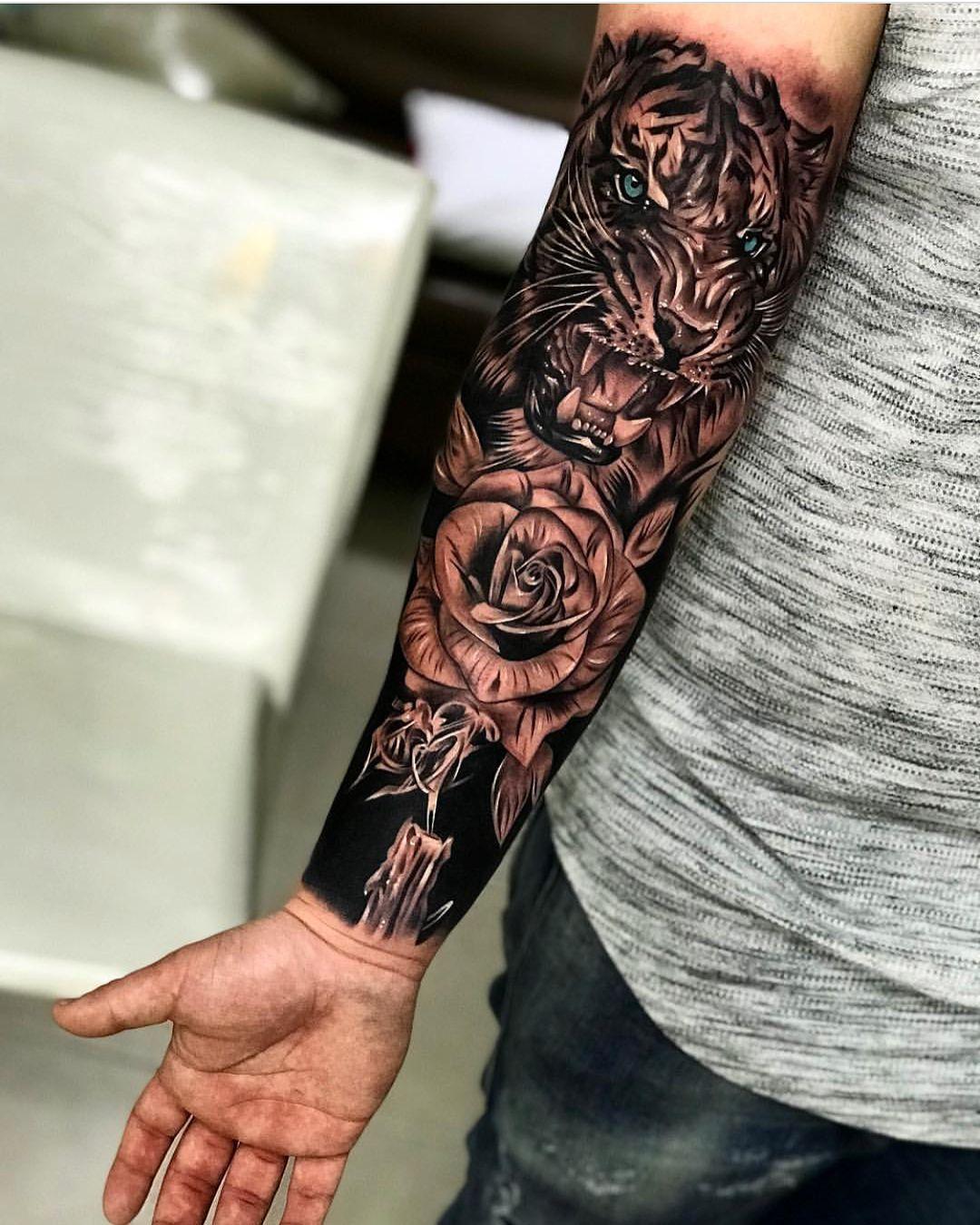 Татуировки в картинках на предплечье мужские