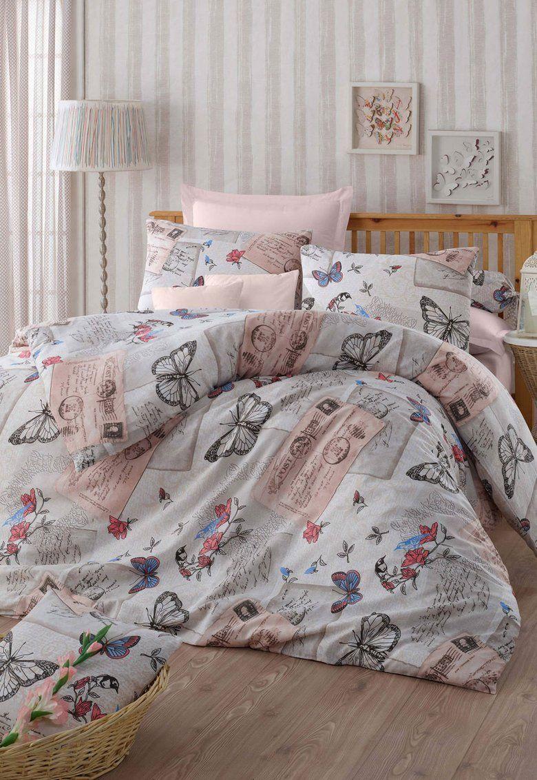 Set de pat multicolor cu model retro Retrofly - Leunelle  a7893dbefc