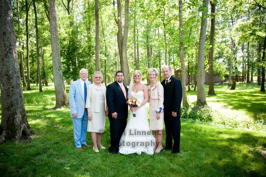 Bride's parents & grandparents with the new couple. http://linnealizphotography.com