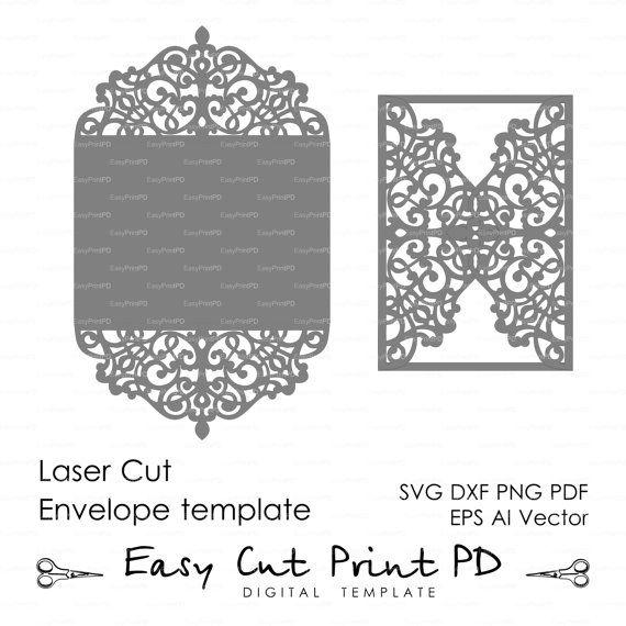 3b16e706dd73f Flourish Wedding invitation Pattern Card 5x7 by EasyCutPrintPD Card  Patterns