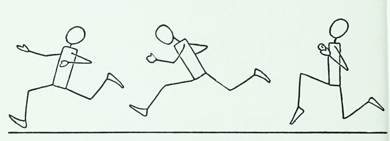 Running. Drawing made easy. 1947. Internet Archive - #1940s #1947 #draw #exercise #figure #fitness #...