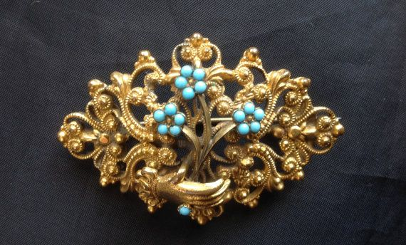 Late Georgian Early Victorian Hand Brooch by victoriansentiments