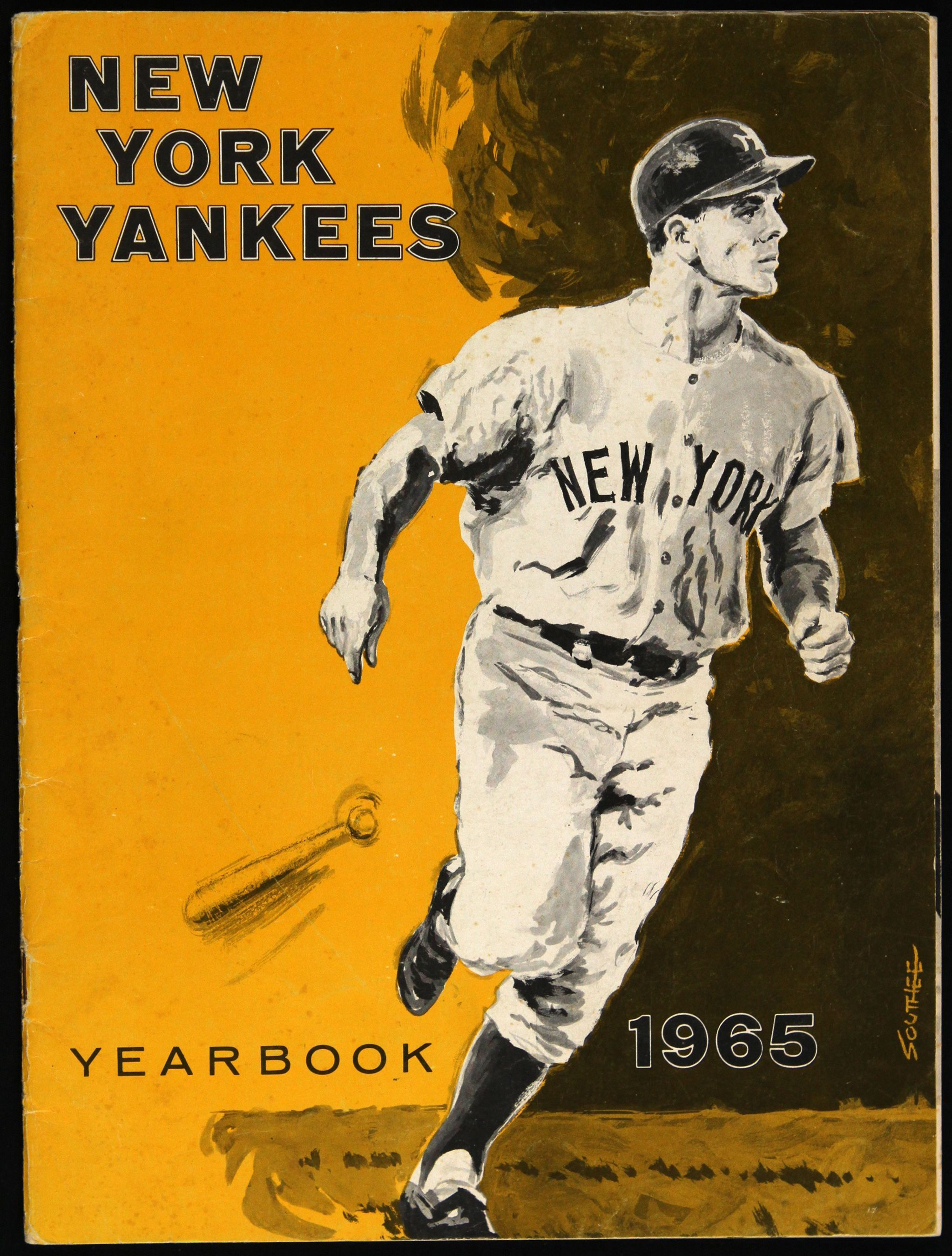 1965 New York Yankees Team Yearbook | 1960s New York Yankees ...