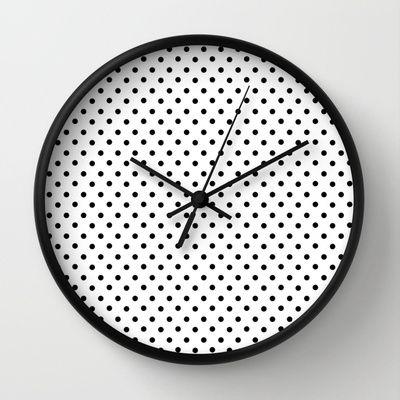 Horloge à pois / Dottie Wall Clock by @stickerzlab via @Society6