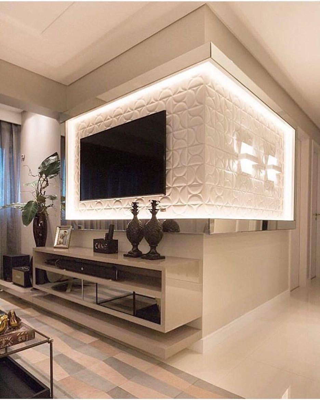 3d Tv Panel Mit Indirekter Beleuchtung Mit Bildern Wohnzimmerentwurfe Wohnung Gestalten Wohnung
