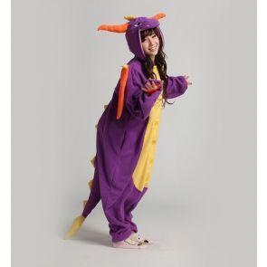 Kigurumi adulto pigiamone Purple Dragon Large (166~174cm)-Skylanders-20