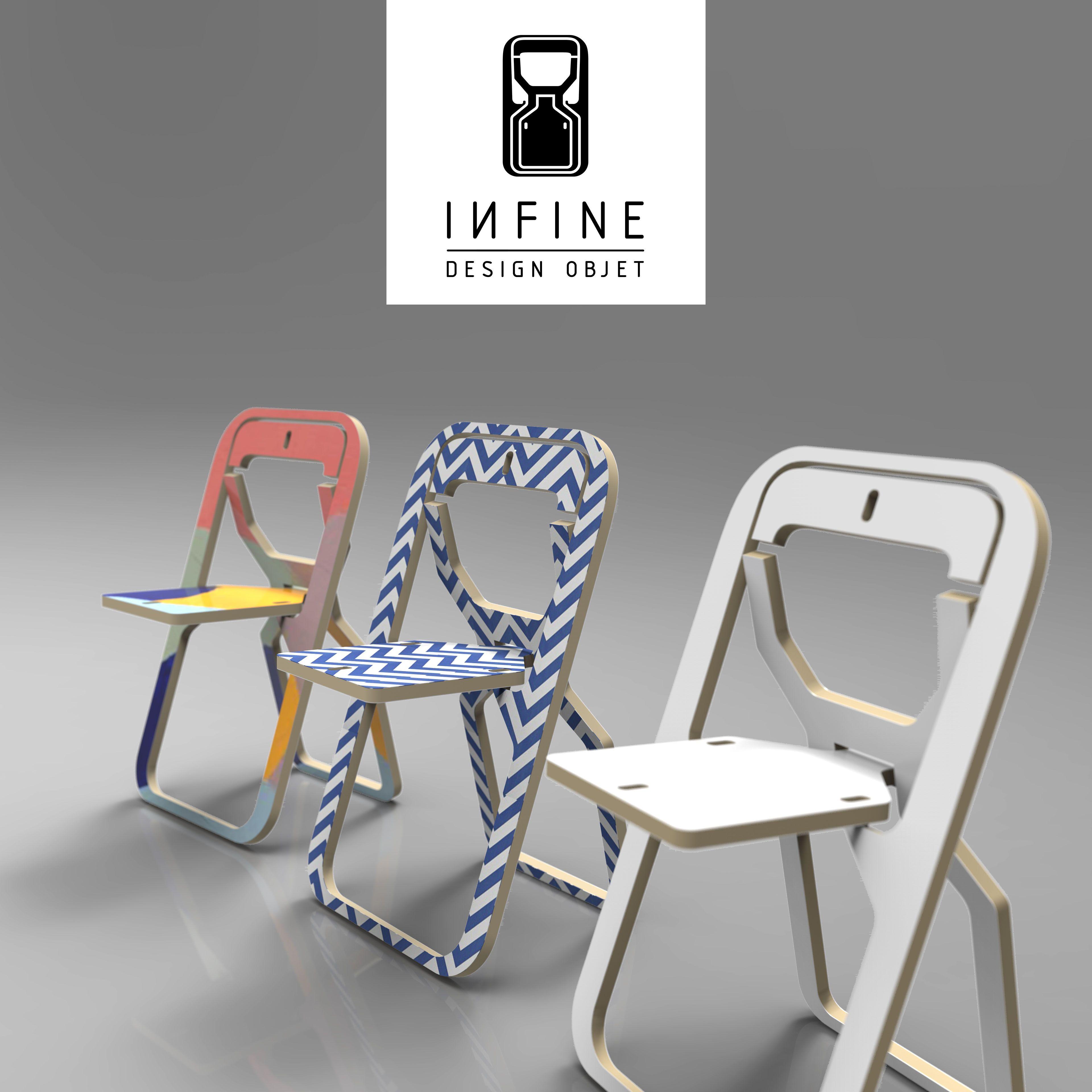 chaise design pliante print chaise