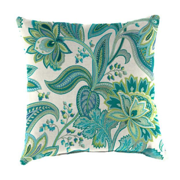 Jordan Manufacturing Square Toss Pillow Fabric Valbella Peacock