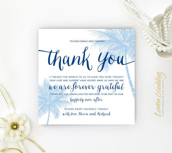 A Welcome Thank you Note Perfect Destination Wedding Welcome – What to Put in a Wedding Thank You Card
