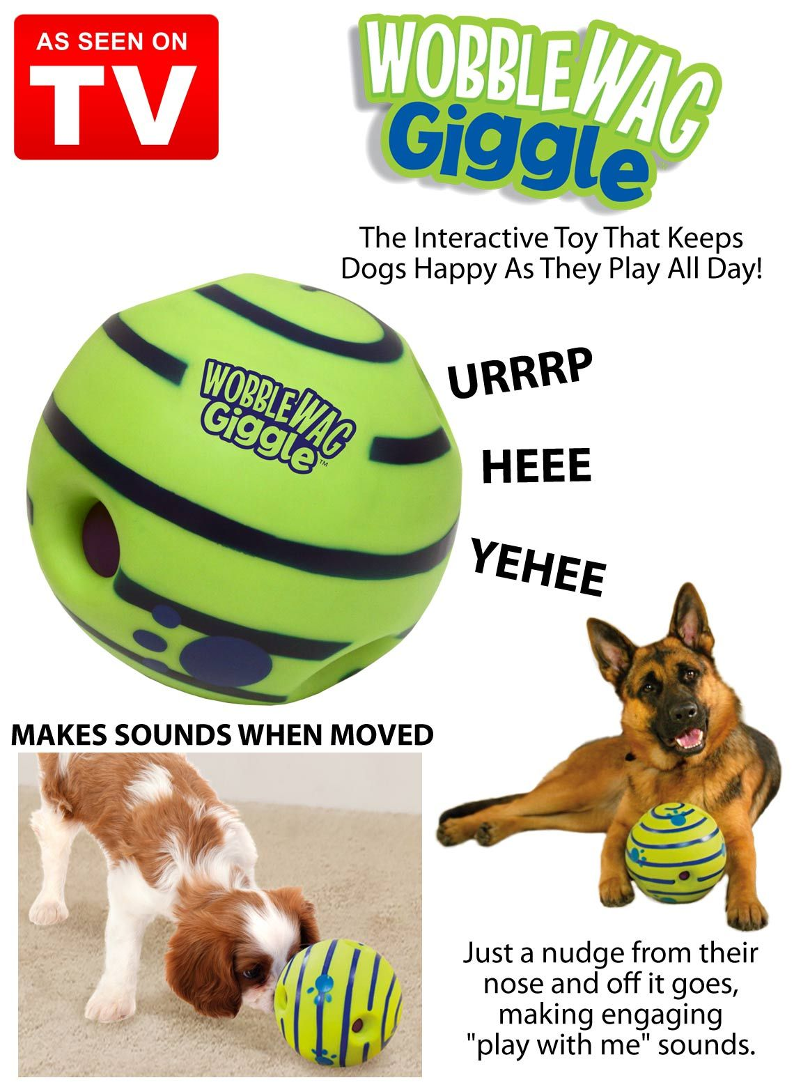 The Wobble Wag Giggle Ball From As Seen On Tv Is The Interactive