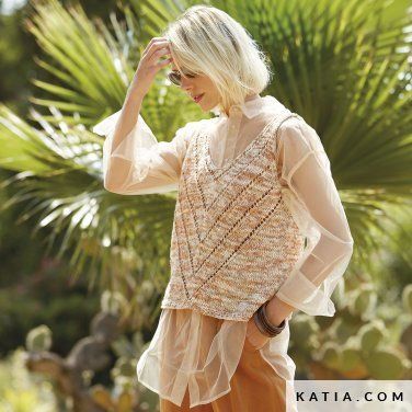 Photo of Top – Woman – Spring / Summer – models & patterns | Katia.com