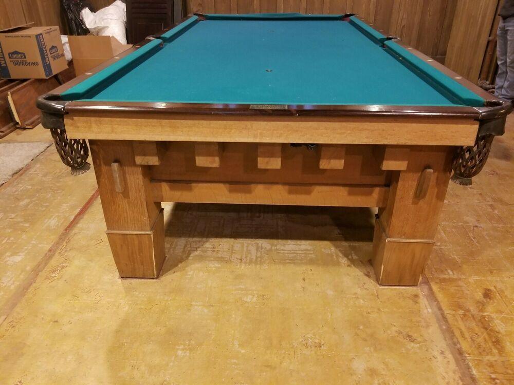 Advertisement Ebay Antique National Billiards Pocket Pool Table 5 X 10 Antique Pool Tables Pool Table Pool Table Pockets