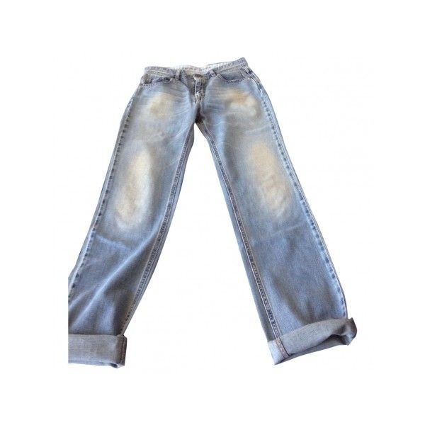 Pre-owned COMPTOIR DES COTONNIERS FADED JEANS (2 150 UAH) ❤ liked on Polyvore featuring jeans, faded jeans, white jeans ve comptoir des cotonniers