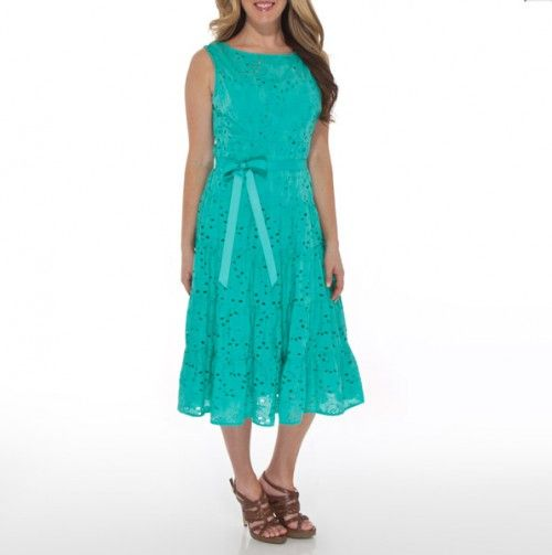Eyelet Tiered Dress with Belt - Mother's Day: Dresses - Events