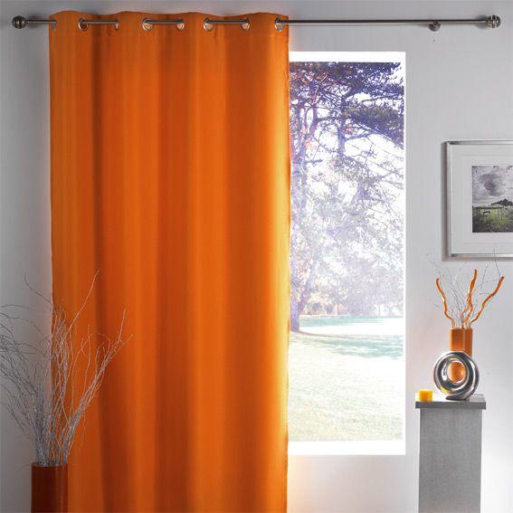 Rideau occultant (140 x H260 cm) Lumia Orange | Pinterest