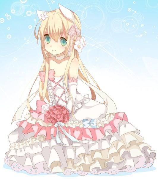 Аниме свадебных платьев
