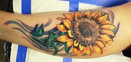 sunflower Tattoo | Sunflower Tattoo Design for Full Arm | ShePlanet