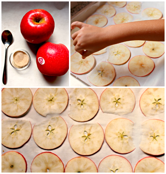 Chips crujientes de manzana