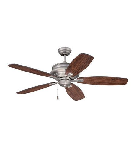 "52"" Pewter Ceiling Fan with Walnut/Black Blades"