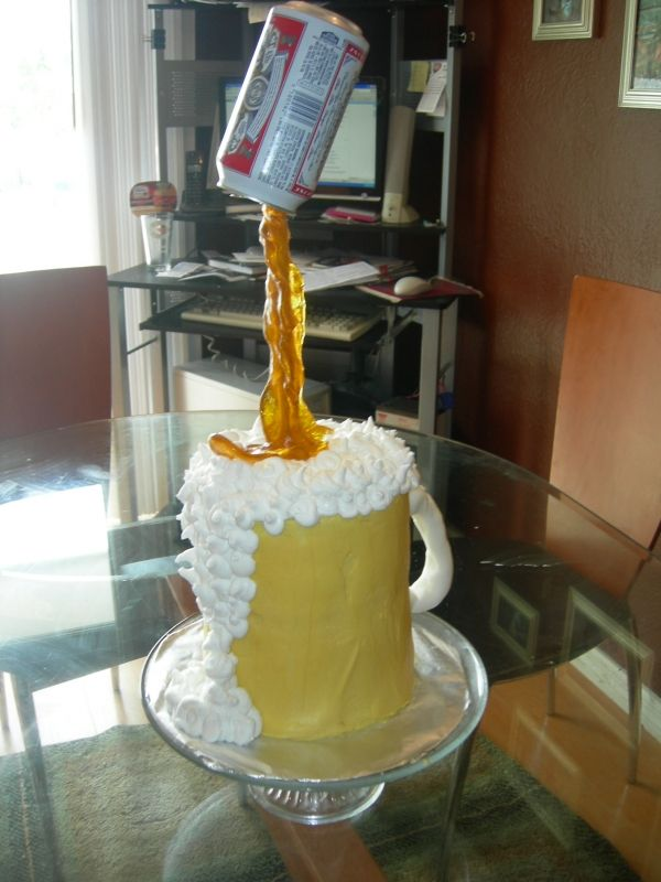 Beer Pour Mug With Directions Cake Cupcakes And