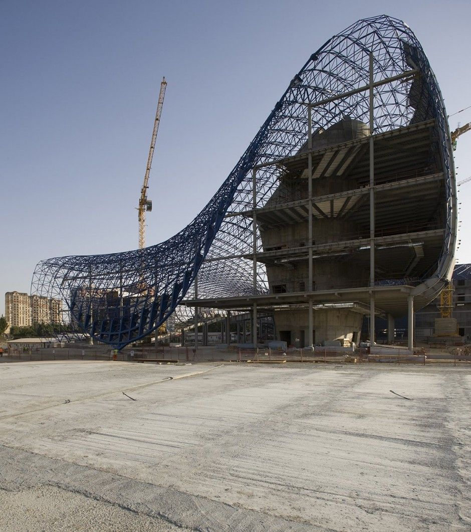heydar aliyev center by zaha hadid architects under construction pinterest zaha hadid. Black Bedroom Furniture Sets. Home Design Ideas