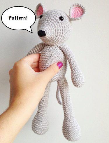 Patrón ratón amigurumi. Mouse amigurumi pattern