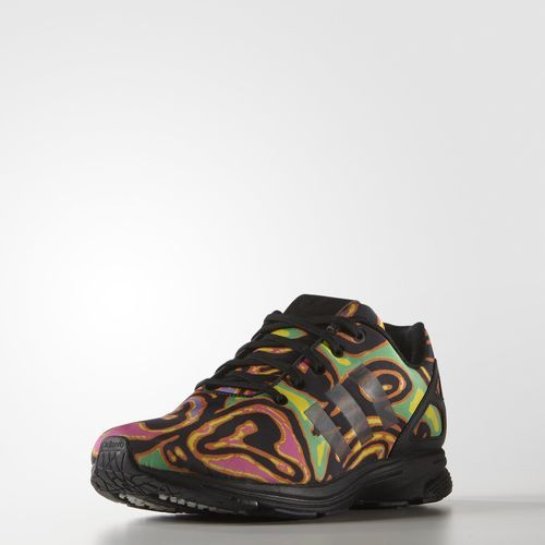 adidas ZX Flux Tech Psychedelic Shoes – Black White | adidas US