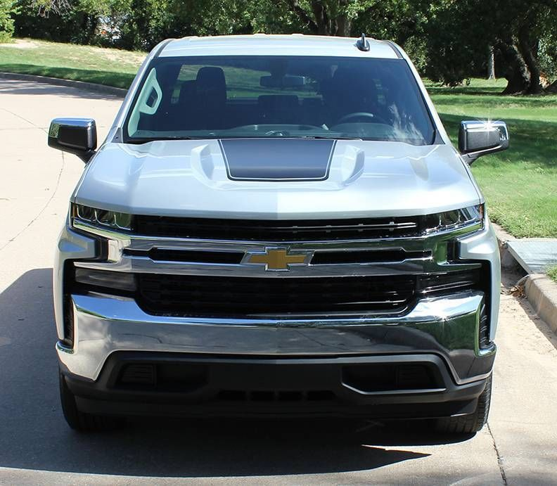2019 Chevy Silverado Hood Stripe Graphics T Boss Hood Decals Avery
