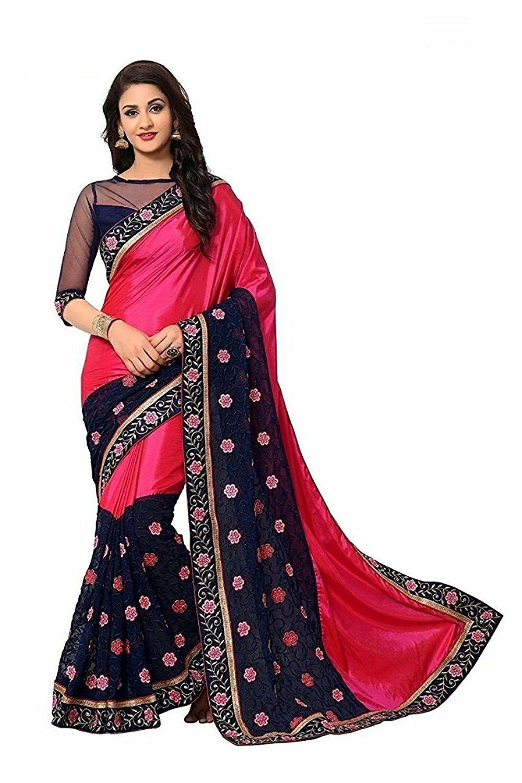 b5c934195b7bf3 Chiffon Saree, Set Contents:1 Saree, 1 Blouse, Color:Green, Style: Embroidered, Saree Color:Green, Saree Width:44 inches, Pattern:Chiffon Saree,  Look:Fashion ...