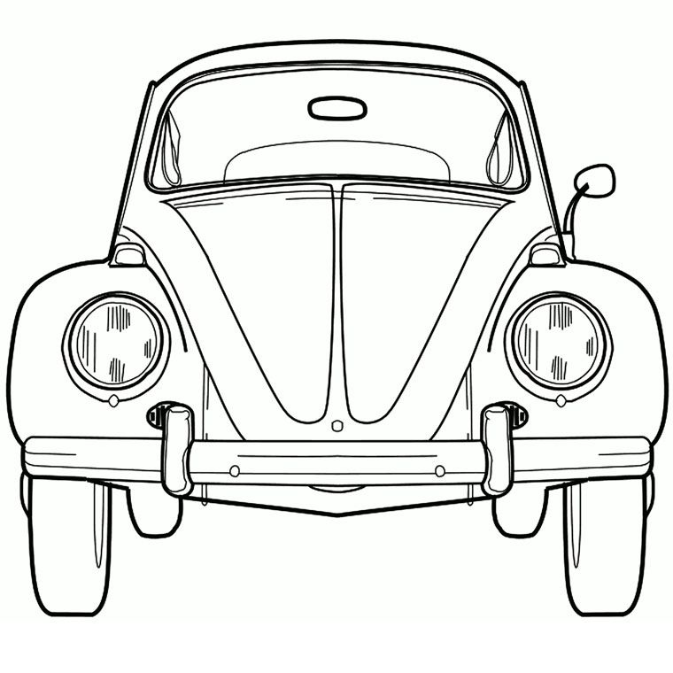 Coloriage Coccinelle Vw A Ater Color Water Paintings