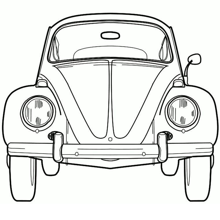 Coloriage coccinelle vw vw pinterest vw volkswagen - Dessin coccinelle voiture ...
