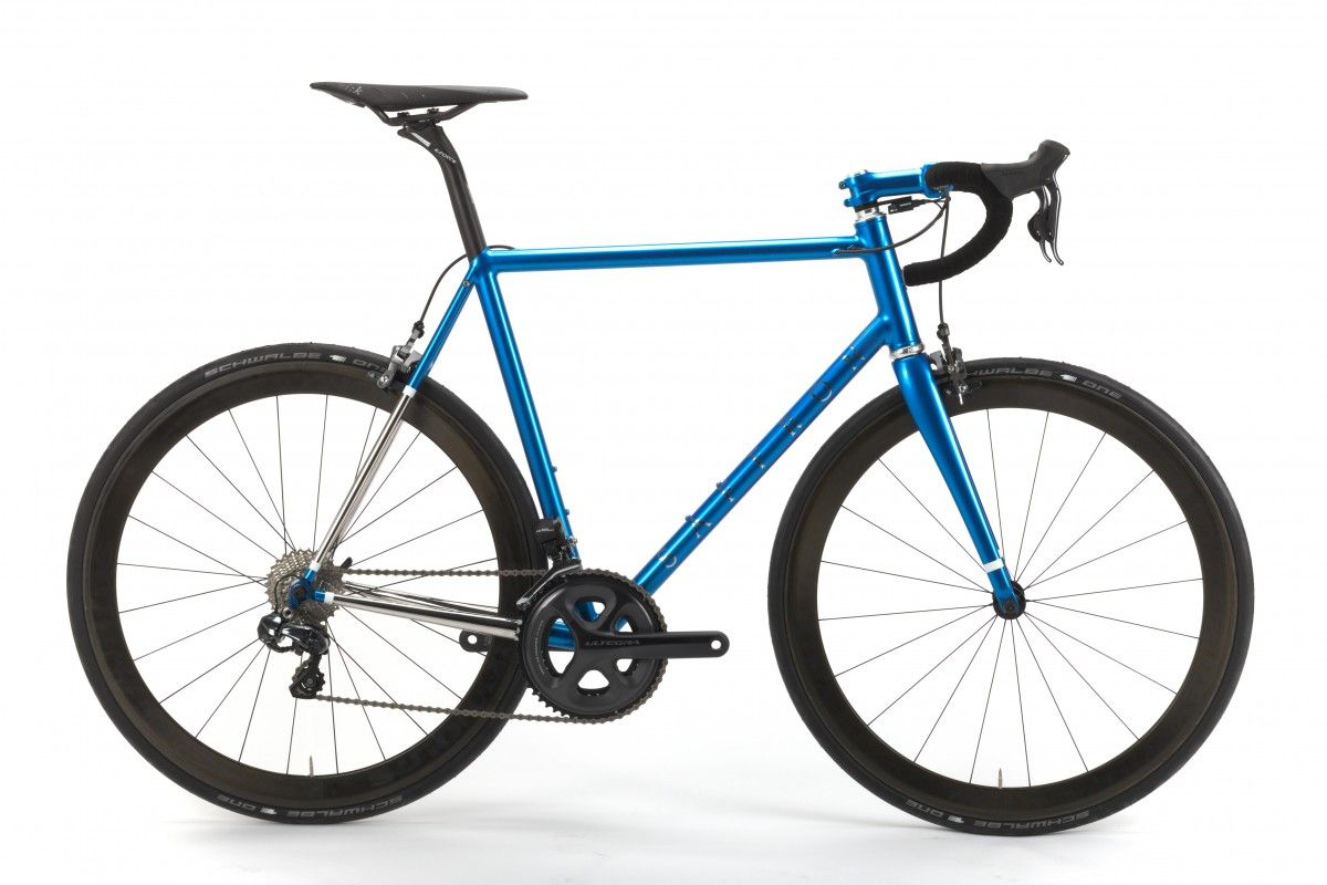 A Race bike made from British steel. We chose the Reynolds 953 ...
