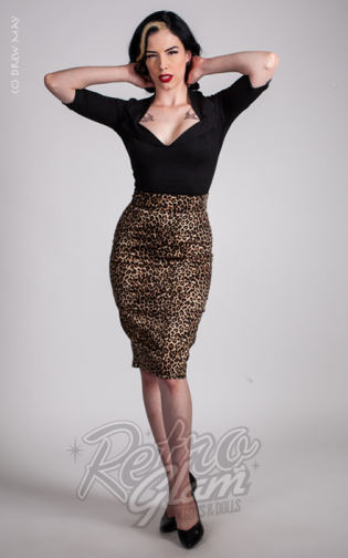 Retro Glam - Pinup Couture Leopard Pencil Skirt  8a7227a38