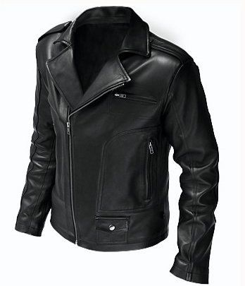 Shoply.com -Handamde Men's Versatile Black Biker Leather Jacket. Only $139.99